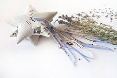 Lavender sachet Quilt star Holyday decor home by UnderUmbrelland, $15.00