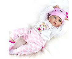 Yesteria Reborn Baby Dolls Girl Look Real Silicone Pink Outfit 22 Inches - Dress My Baby Girl Cheap Reborn Baby Dolls, Baby Dolls For Toddlers, Silicone Reborn Babies, Silicone Baby Dolls, Newborn Baby Dolls, Reborn Baby Girl, My Baby Girl, Boy Doll, Girl Dolls