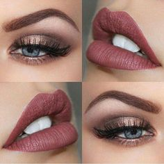 Beautiful eye color, perfect lips!