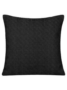 """Pillow Studio RUF Black Beauty Size: 20"""" x 20"""" or 50 cm x 50 cm VELVETY SOFT WOOL PILLOW Handmade in Morocco: pillows, throws and bedspreads"""