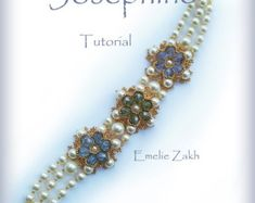 Beading tutorial. Joséphine bracelet. ! PDF file containing instructions for making the Crystal ,not the bracelet itself. by emeliebeads. Explore more products on http://emeliebeads.etsy.com