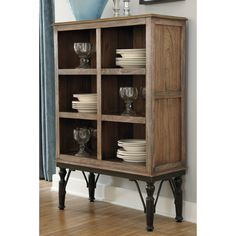 A rustic design for the modern home, this charming dining room server features a reclaimed wood look with a natural medium brown finish composed atop shapely black-finished legs for a contemporary storage space to add chic style to your home. Dining Room Server, Dining Room Storage, Dining Room Design, Dining Rooms, Dining Area, Kitchen Dining, Servers Furniture, Bar Furniture, Small Furniture