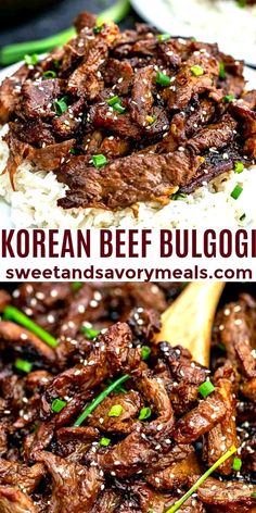 Beef Bulgogi is smoky juicy slightly sweet and melt-in-your-mouth tender. Asian Cooking, Beef Dishes, Ground Beef Recipes, Asian Recipes, Asian Foods, The Best, Easy Meals, Cooking Recipes, Healthy Food