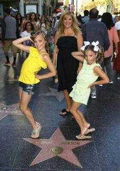 Maddie, Melissa & Mackenzie in Hollywood.