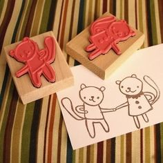 DIY stamps #friends #stamps #scrapbooking #cardmaking #stamping