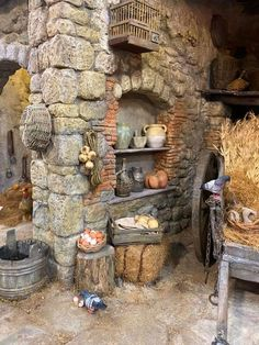 Outdoor Kitchen Patio, Outdoor Kitchen Design, Terracotta Jewellery Online, Faux Rock, Tiny World, Natural Building, Diy Garden Projects, Decks And Porches, Miniature Houses