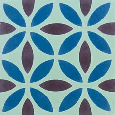 Oasis Mint/Maroon/Blue - moroccan, cement tiles