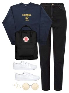 """""""Untitled #4261"""" by magsmccray ❤ liked on Polyvore featuring Miss Selfridge, Chanel, Fjällräven, Opening Ceremony and Victoria Beckham"""