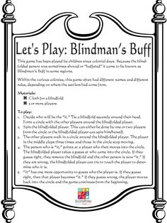 Colonial Games BlindmansBuff