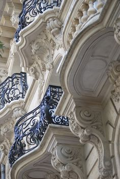 ornate cast iron balconies | france | cdavis - creative commons license