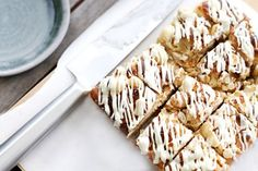 Macadamia and White Chocolate Slice