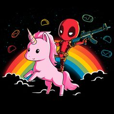 Nothing says epic like Deadpool riding a unicorn! Get the Epic Deadpool Shirt only at TeeTurtle!