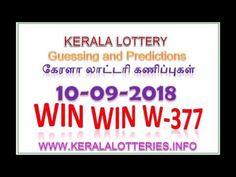Kerala Lottery Guessing WIN WIN W 477 09 09 2018