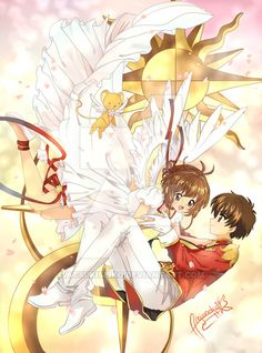 Sakura and Shaoran by AtsukiSeiko on DeviantArt Cardcaptor Sakura, Yue Sakura, Syaoran, Manga Anime, Anime Art, Vocaloid, Sakura Card Captors, Manhwa, Xxxholic