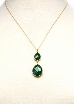Columbian emerald pendant style pinterest columbian emeralds liv oliver double emerald pendant necklace aloadofball Choice Image