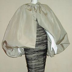 Balenciaga 'Eisa' - Vintage - Ensemble Robe Bustier et Jupe Modifiable en Cape - 1959