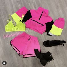 Shop the KrushGirl for the latest trends and styles of women's fashion clothing for every occasion. Cute Nike Outfits, Neon Outfits, Swag Outfits For Girls, Crop Top Outfits, Girls Fashion Clothes, Sporty Outfits, Cute Outfits For Kids, Teen Fashion Outfits, Dance Outfits