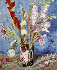 Vase With Gladioli, Vincent Van Gogh.