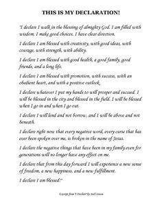 """Excerpt from """"I Declare"""" by Joel Osteen"""