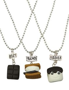 BFF Smores Necklaces | Necklaces | Jewelry | Shop Justice
