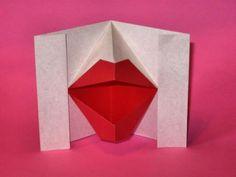 Origami Beijo - Kissing Lips