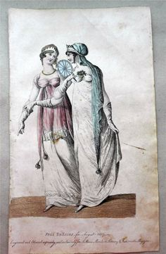 1807 Beau Monde Regency Fashion Fulll Dress