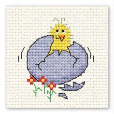 Hobbycraft Hatching Easter Chick Mini Cross Stitch Kit
