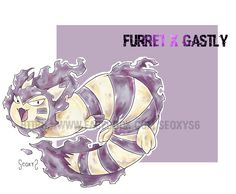 Furret x Gastly by Seoxys Pokemon Fusion Art, Team Rocket, Pokemon Games, Catch Em All, Charizard, Creatures, Deviantart, Manga, Drawings