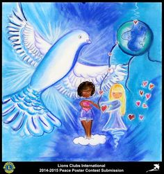 2014-15 Lions Clubs International Peace Poster Competition submission from Guadelouple Saint John Perse Lions Club in Guadeloupe F W