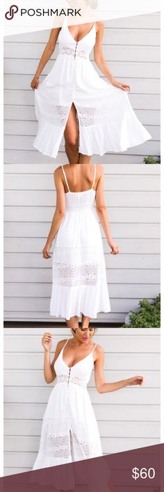 Hello molly maxi white dress worn once! Long and flowy white vacation dress from hello molly hello molly Dresses Maxi