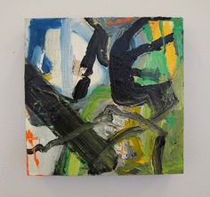 Cindy Cuba Clements, #72 of 100 artists in Flash Art Show. (acrylic and mixed media)