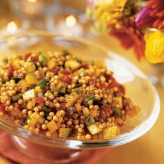Israeli Couscous Salad with Summer Vegetables - We had this with Naan bread and it was delicious
