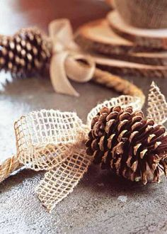 Natural pinecone table decoration