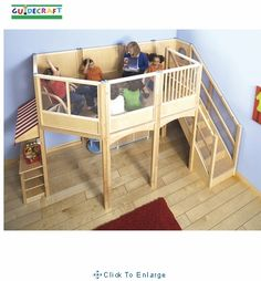 Kids Play Loft. This looks like so much fun!