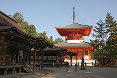 Danjogaran is an important Buddhist site o top of Mt. Koya in Japan. It is said to be the central point of a mandala covering all of Japan.