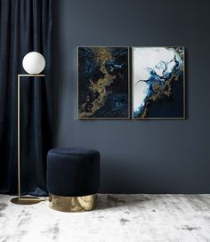 Blue Gold Poster in the group Prints / Art prints at Desenio AB Interior Desing, Interior Inspiration, Interior Decorating, Decor Room, Living Room Decor, Bedroom Decor, Home Decor, Art Decor, Decor Ideas