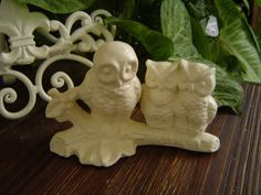 Vintage Ceramic Mama Owl and 2 Baby Owls Statue by SundayTreasures, $10.00