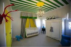 striped painted ceiling walls - Google Search