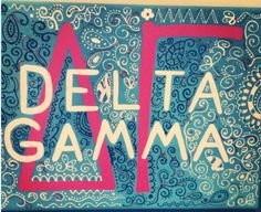 https://www.etsy.com/listing/154794377/12x-16-kappa-alpha-theta-skribble-sketch #deltagamma #dg #sororitycanvas #canvas check out canvases by julia and bailee's newest summer custom order. Such a great deal--only $22 for a unique order!!!