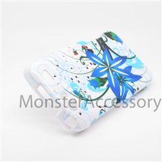 Click Image to Browse: $5.95 Blue Slpash Hard Case Snap On Cover For Motorola Atrix 3 HD Dinara MB886