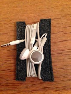 Kopfhörer Aufbewahrung in Grau