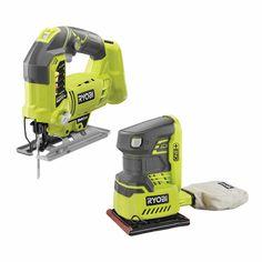Ryobi Cordless Tools, Sheet Sander, Hand Sander, Adjustable Base, Thing 1, Paper Punch, Wood Cutting, Clean Up, Dust Bag