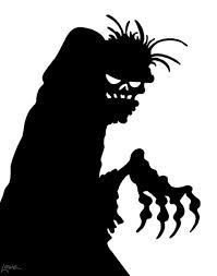 63 days til halloween zombie window silhouette printables - Print Out Halloween Decorations