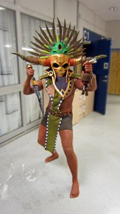 Witch Doctor Cosplay (male) summer of 2012 by ~BrakeHeart on deviantART
