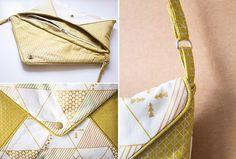 """Die Handtasche """"Linnea"""" ist der ideale Begleiter für den Stadtbummel, zum Ausgehen oder als schicke Handtasche für festliche Anlässe. Sie kann einfarbig genäht werden, eignet sich aber auch..."""