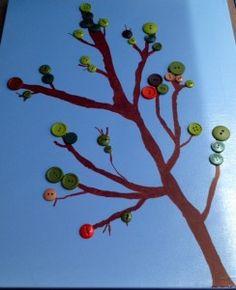 Easy DIY art inspired by Pinterest. Tips & info. #diy #crafts #art #homedecor http://www.pinnertakesall.com/2012/08/17/pintastic-friday-08-17-12-diy-tree-canvas-w-buttons/
