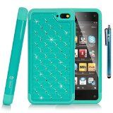 Style4U Amazon Fire Phone Case - Studded Rhinestone Crystal Bling Hybrid Armor Case Cover with 1 HD Screen Protector and 1 Stylus [Teal / Mint Blue] Reviews - http://www.knockoffrate.com/cell-phones-accessories/style4u-amazon-fire-phone-case-studded-rhinestone-crystal-bling-hybrid-armor-case-cover-with-1-hd-screen-protector-and-1-stylus-teal-mint-blue-reviews/