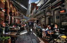 Melbourne laneway cafes. Hardware Lane, pictured, is currently heritage protected.