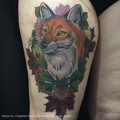 Regularly updated gallery of colourful neo-traditional nature and wildlife tattoos by Charlotte Timmons