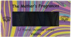 The Mothers India Fragrances Vanilla Incense Cones